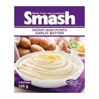Smash Instant Mash Potato Garlic Butter 104g