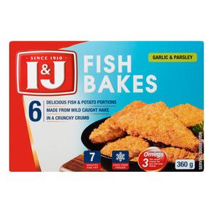I&j Fish Bake Garlic 360g