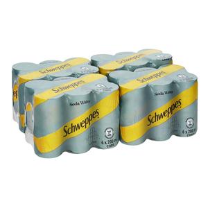 Schweppes Soda Water Can 200ml x 24