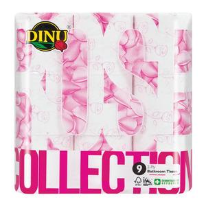 Dinu Pink Rose Toilet Rolls 2 Ply 9ea