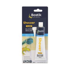 Bostik Shower Clear Silicone Sealant 90ml