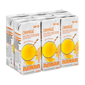 PnP Orange Juice 200ml x 6 TEST