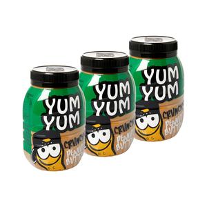 Yum Yum Crunchy Peanut Butter 800g x 3