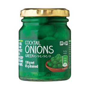 PnP Cocktail Onions Green 130g