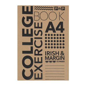 PnP A4 72 Page Irish And Margin Exercise Book