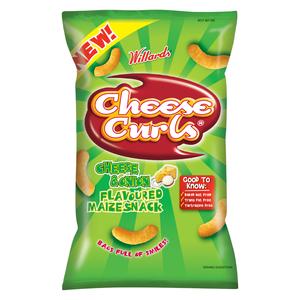 Willards Cheese Curls Cheese & Onion 150g