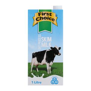 First Choice UHT Skim Milk 1l x 12