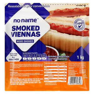 No Name Smoked Viennas 1 Kg