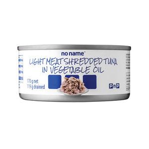 PnP No Name Light Meat Shredded Tuna In Vegetable Oil 170g x 48