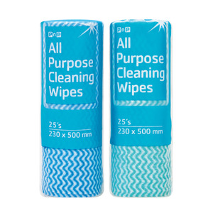 PnP Cleaning Wipes On A Roll 25ea