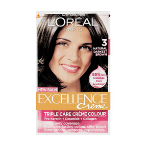 L'oreal Excellence 3 Natural Darkest Brown Hair Colour