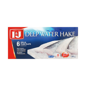 I&J Deep Water Hake Fillets 800g
