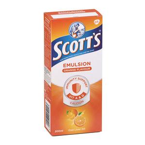 Scott's Orange Vitamin & Mineral Supplement 200ml x 6