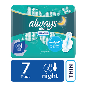 Always Ultra Sanitary Pads Night 7s