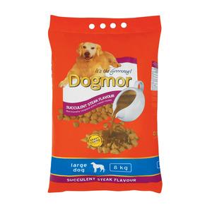 Dogmor Steak Flavoured Large Adult Dog Food 8 KG