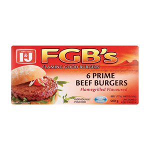 I$J Frozen Flaming Good Burgers 500g