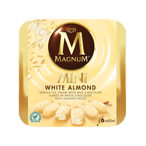 Ola Mini Magnum Ice Cream White Almond 6s