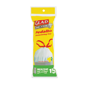 Glad Drawstring Pedal Bin Ba gs 15