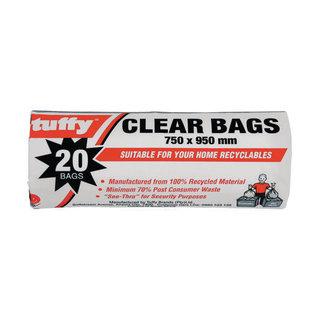 Tuffy Clear Refuse Bags 20ea x 25