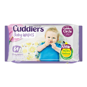 Cuddlers Baby Wipes 64ea