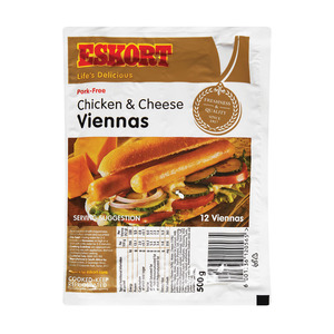 Eskort Vienna Chicken And Cheese 500g