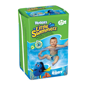 Huggies Little Swimmers Nappies Size 3-4 Small 7-15kg 12s