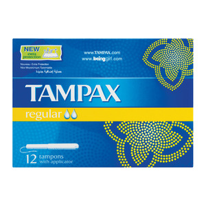 Tampax Applicator Tampons Regular 12s