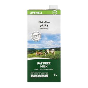 UHT Long Life Fat Free Milk 1l