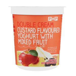 PnP Double Cream Stewed Fruit & Custard Yoghurt 175g