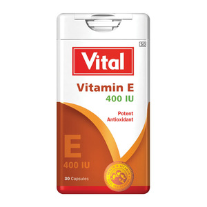 Vital Vitamin E 400 IU Antioxidant Capsules 30s