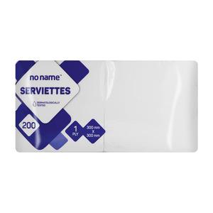 PnP No Name Serviettes White 200s