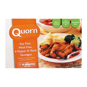 Quorn Vegetarian Sausage Pepper & Herb 300g