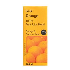 PnP Orange Juice 200ml TEST