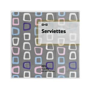 PnP 2 Ply Serviettes Square 20ea