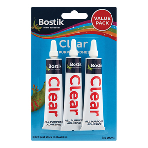 Bostik Clear Adhesive Value  Pack 3