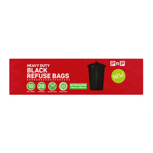 PnP Refuse Bags Intereafed 10ea