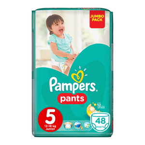 Pampers Disposable Pants Junior Jumbo Pack 48s