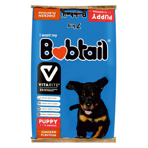 Bobtail Puppy Mini Chunks Ch icken 7kg