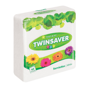 Twinsaver Assorted Serviettes 50ea