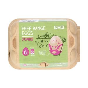 PnP Jumbo Free Range Eggs 6s