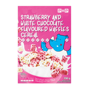 PnP Waffles Strawberry & Wheat Cereal 35 0g