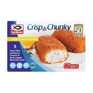Sea Harvest Crispy And Chunky  Lemon Black Pepper 500g