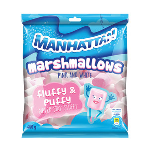 Manhattan Pink & White Mallows 400g