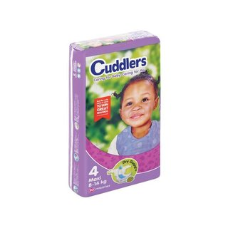 Cuddlers Comfort Baby Diapers Size4 50ea
