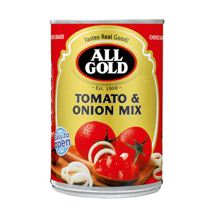 All Gold Fresh & Chunky Toma to & Onion Mix 410 GR