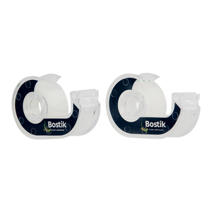 Bostik Clear Tape Dispenser Value Pack 2s