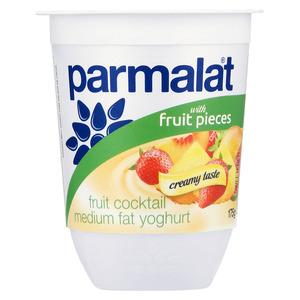 Parmalat Low Fat Fruit Salad Yoghurt with Fruit Pieces 175g