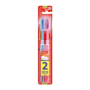 Colgate Double Action Toobrush Medium Twinpack