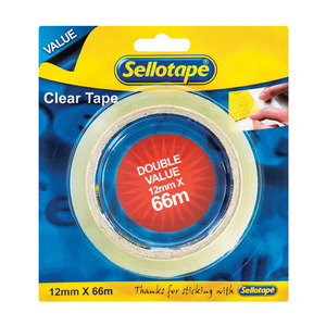 Sellotape Clear Tape 12x66