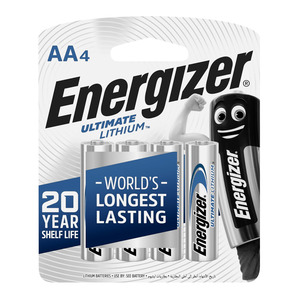Energizer Ultimate Lithium AA Batteries 4s